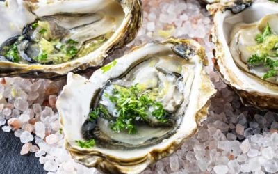 Fresh Oysters with Champagne mignonette