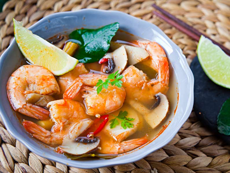 Sweet and Sour Prawn Soup