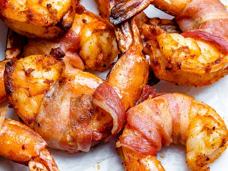 Bacon-Wrapped Prawns